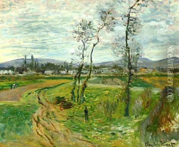 A Field At Gennevilliers Oil Painting - Claude Oscar Monet