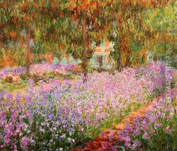 Irises In Monets Garden Oil Painting - Claude Oscar Monet