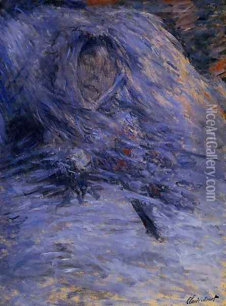 Camille Monet On Her Deathbed Oil Painting - Claude Oscar Monet
