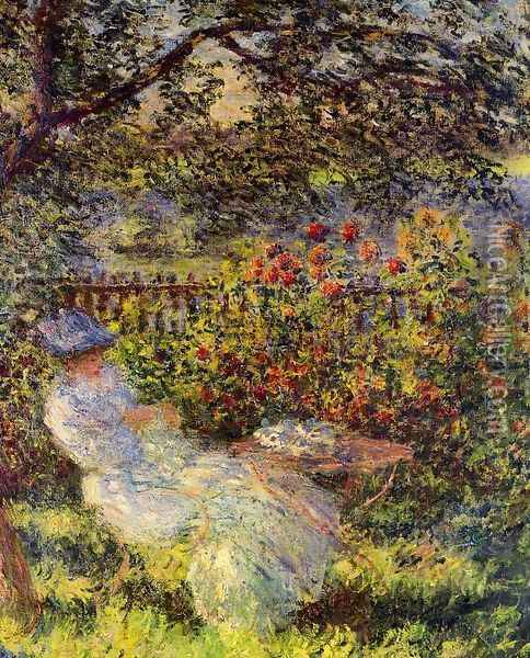 Alice Hoschede In The Garden Oil Painting - Claude Oscar Monet
