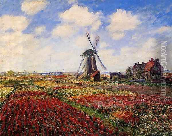 Field Of Tulips In Holland Oil Painting - Claude Oscar Monet