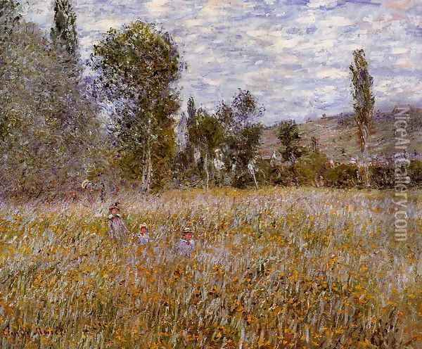 A Meadow Oil Painting - Claude Oscar Monet
