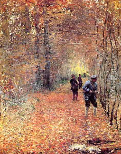 Hunting Aka The Shoot Oil Painting - Claude Oscar Monet