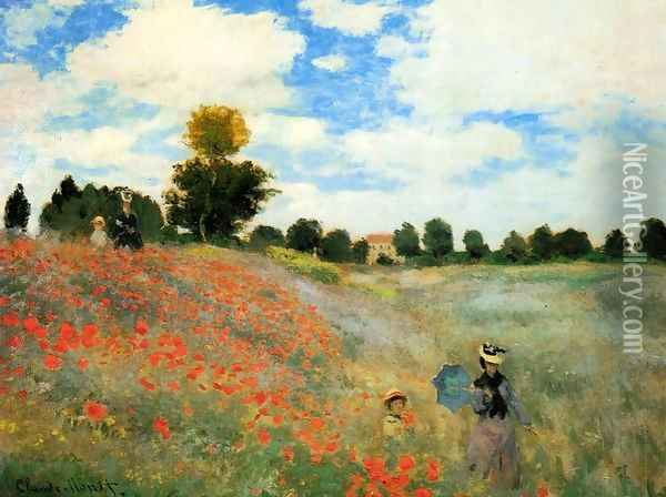 Poppies At Argenteuil Oil Painting - Claude Oscar Monet