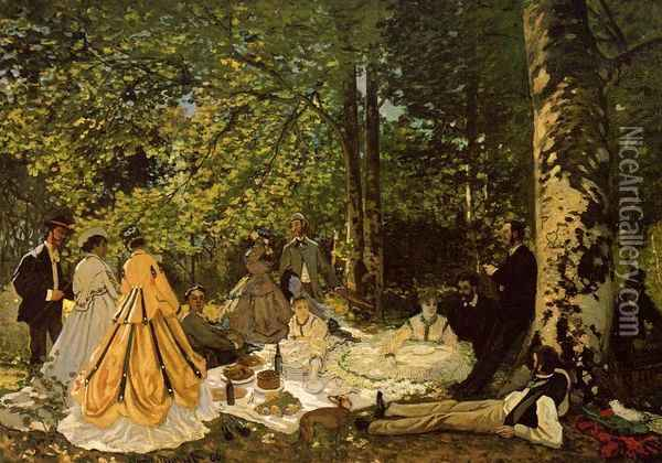 Luncheon on the Grass Oil Painting - Claude Oscar Monet