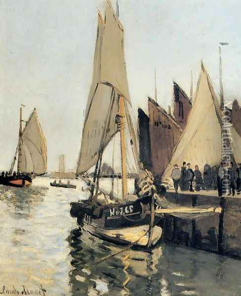 Sailing Boats At Honfleur Oil Painting - Claude Oscar Monet
