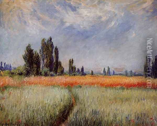 The Wheat Field Oil Painting - Claude Oscar Monet
