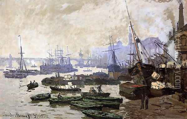 Boats In The Port Of London Oil Painting - Claude Oscar Monet