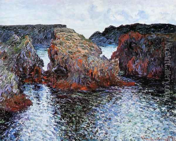 Belle Ile Rocks At Port Goulphar Oil Painting - Claude Oscar Monet