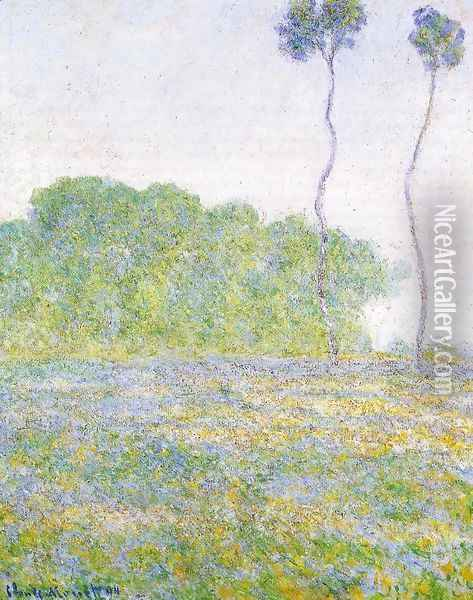 A Meadow At Giverny Oil Painting - Claude Oscar Monet