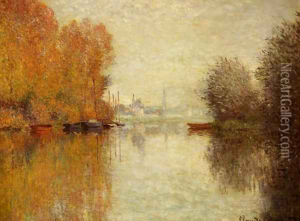Autumn On The Seine At Argenteuil Oil Painting - Claude Oscar Monet