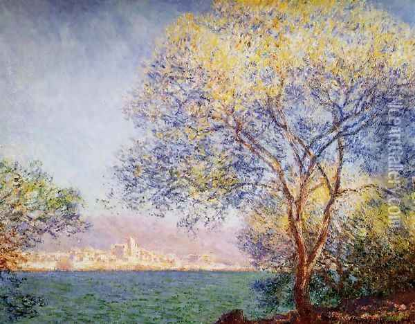 Antibes In The Morning Oil Painting - Claude Oscar Monet