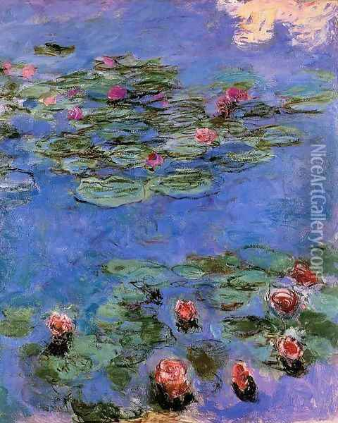 Red Water Lilies Oil Painting - Claude Oscar Monet