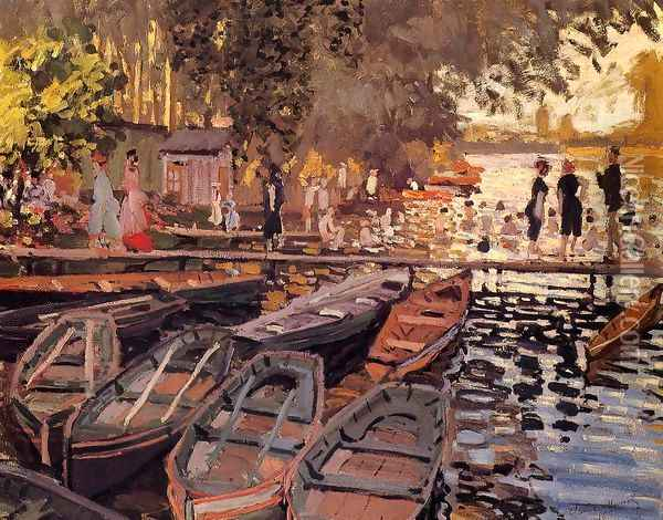 Bathers At La Grenouillere Oil Painting - Claude Oscar Monet