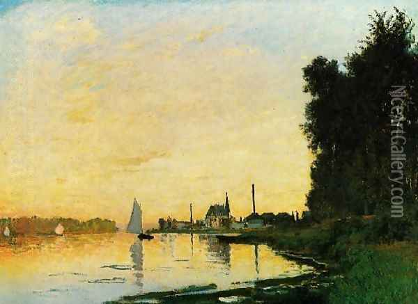 Argenteuil Late Afternoon Oil Painting - Claude Oscar Monet