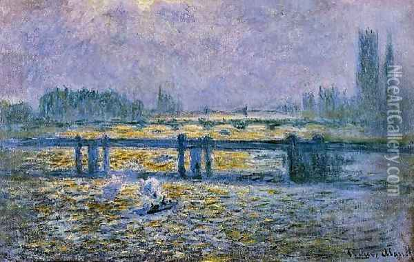 Charing Cross Bridge Reflections On The Thames Oil Painting - Claude Oscar Monet