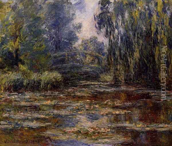 The Water-Lily Pond and Bridge Oil Painting - Claude Oscar Monet
