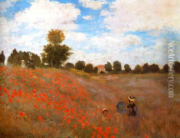 Wild Poppies, Near Argenteuil Oil Painting - Claude Oscar Monet
