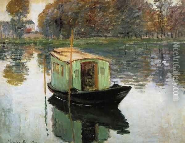 The Studio Boat Oil Painting - Claude Oscar Monet