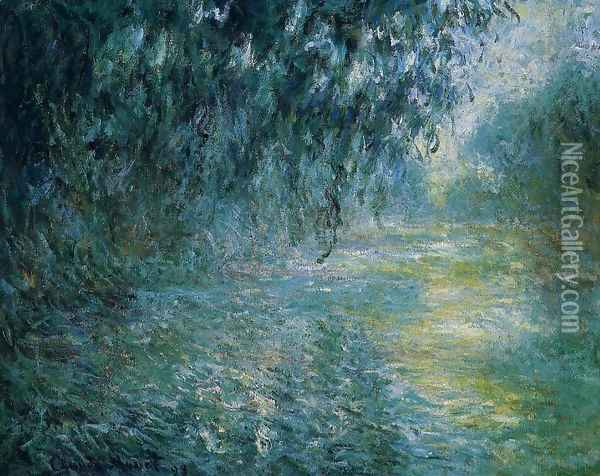 Morning On The Seine In The Rain Oil Painting - Claude Oscar Monet
