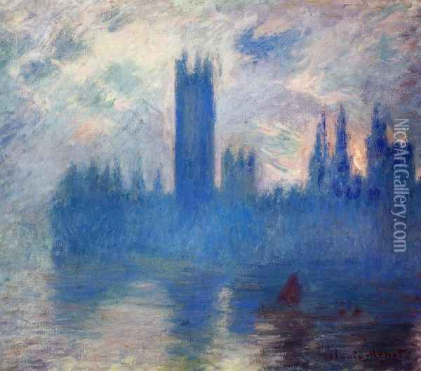 Houses of Parliament, Westminster Oil Painting - Claude Oscar Monet