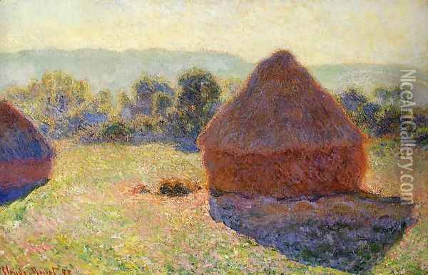 Grainstacks In The Sunlight Midday Oil Painting - Claude Oscar Monet
