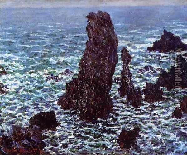 The Pyramids Of Port Coton Belle Ile En Mer Oil Painting - Claude Oscar Monet