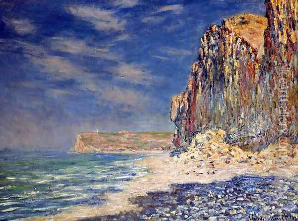 Cliff Near Fecamp Oil Painting - Claude Oscar Monet