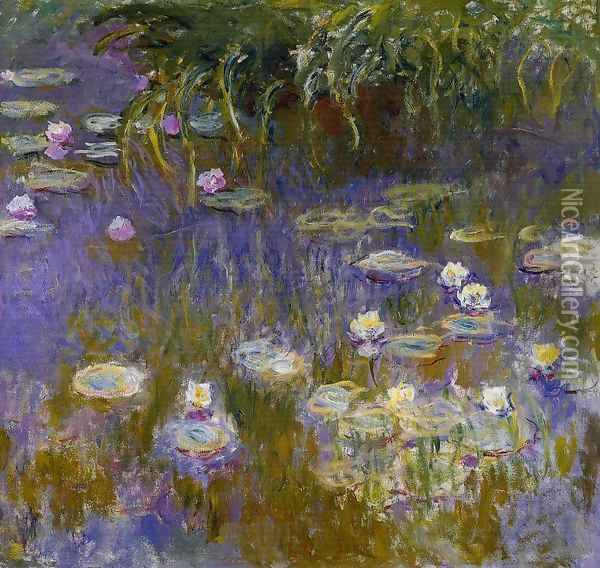 Yellow And Lilac Water Lilies Oil Painting - Claude Oscar Monet