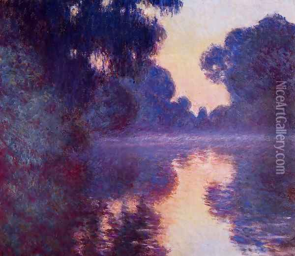 Arm Of The Seine Near Giverny At Sunrise Oil Painting - Claude Oscar Monet
