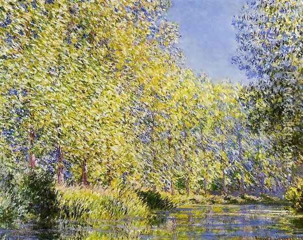 Bend In The River Epte Oil Painting - Claude Oscar Monet