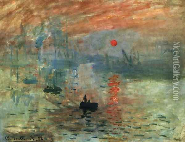 Impression, Sunrise Oil Painting - Claude Oscar Monet