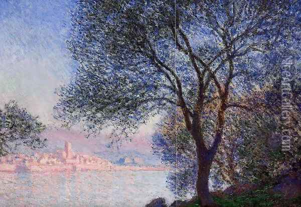 Antibes Seen From The Salis Gardens Oil Painting - Claude Oscar Monet