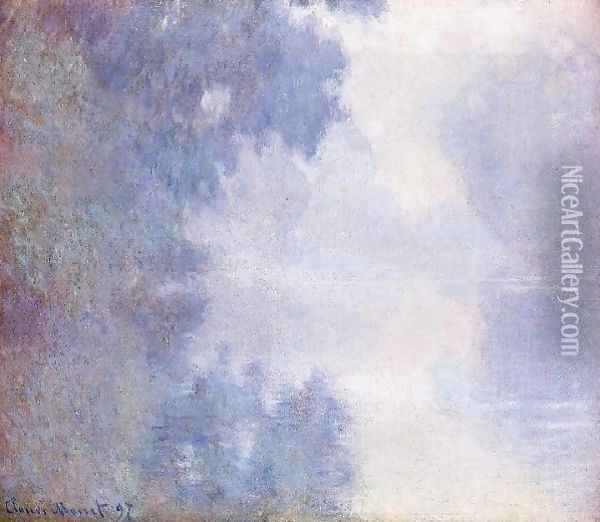 Morning On The Seine Mist Oil Painting - Claude Oscar Monet