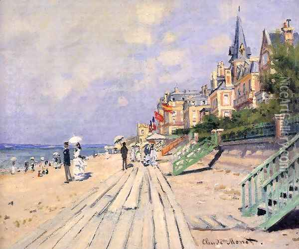 The Boardwalk At Trouville Oil Painting - Claude Oscar Monet