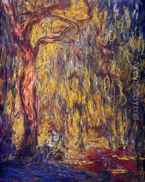 Weeping willow Oil Painting - Claude Oscar Monet