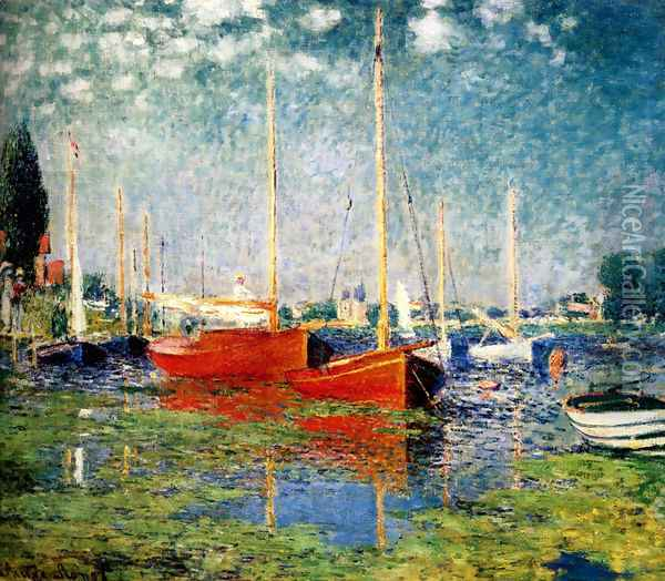 The Red Boats, Argenteuil Oil Painting - Claude Oscar Monet