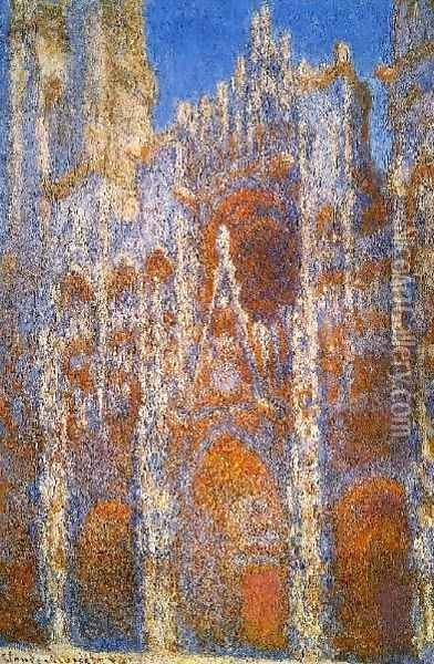 Rouen Cathedral Sunlight Effect Oil Painting - Claude Oscar Monet