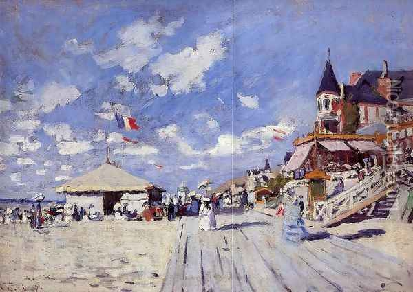 The Boardwalk On The Beach At Trouville Oil Painting - Claude Oscar Monet