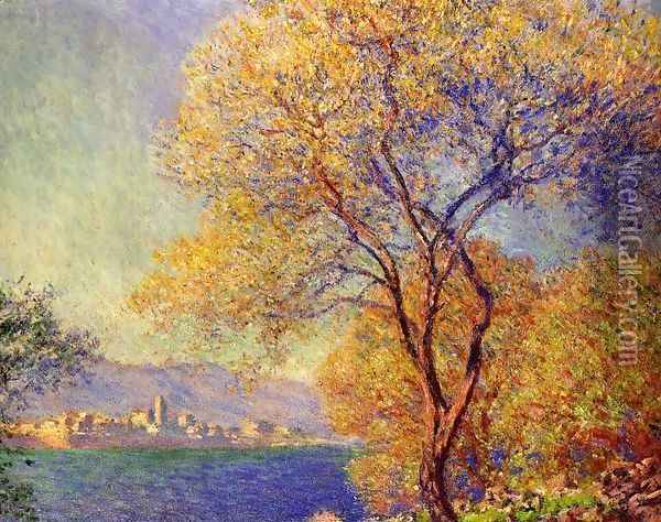 Antibes Seen From The Salis Gardens2 Oil Painting - Claude Oscar Monet