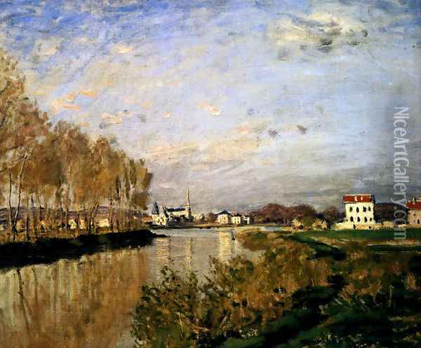 The Seine At Argenteuil, 1873 Oil Painting - Claude Oscar Monet