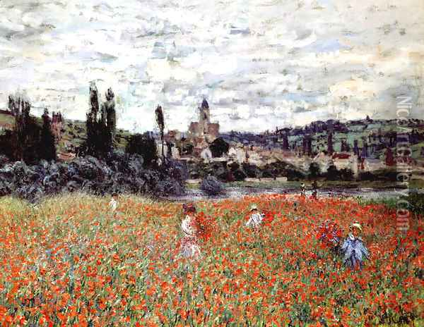 Poppies Near Vetheuil Oil Painting - Claude Oscar Monet