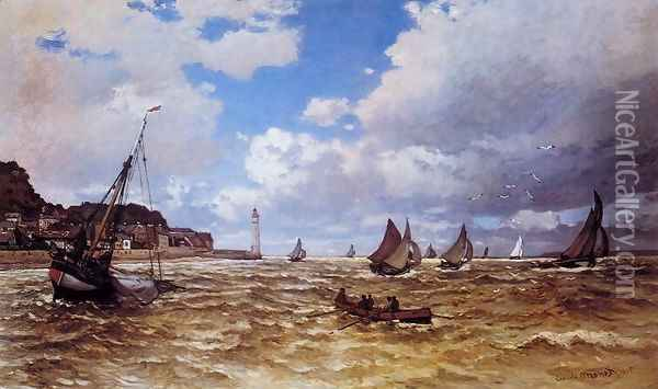 Mouth Of The Seine At Honfleur Oil Painting - Claude Oscar Monet