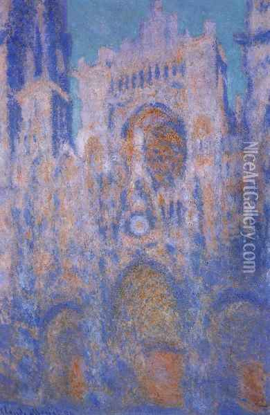 Rouen Cathedral, Symphony in Grey and Rose Oil Painting - Claude Oscar Monet