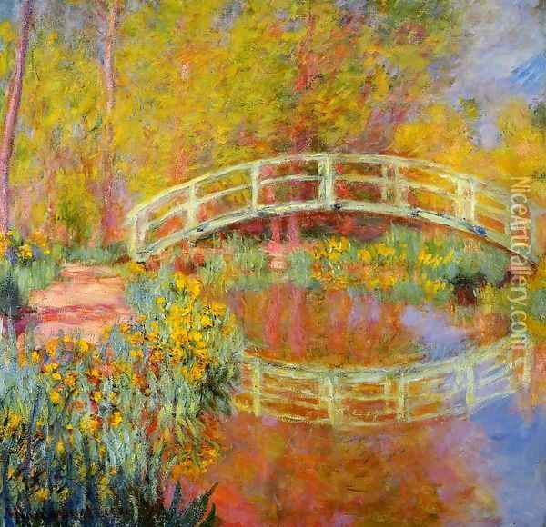 The Japanese Bridge At Giverny2 Oil Painting - Claude Oscar Monet