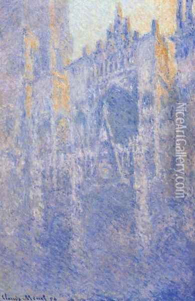 Rouen Cathedral, the Portal, Morning Fog Oil Painting - Claude Oscar Monet