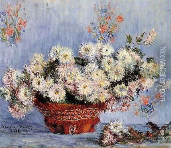Chrysanthemums2 Oil Painting - Claude Oscar Monet