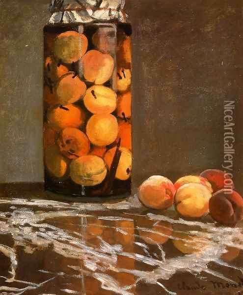 Jar Of Peaches Oil Painting - Claude Oscar Monet