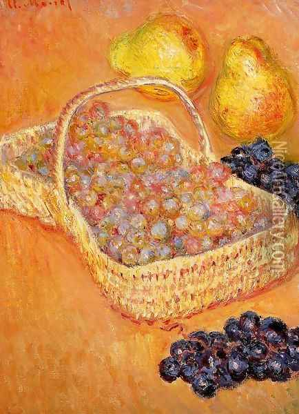 Basket Of Graphes Quinces And Pears Oil Painting - Claude Oscar Monet