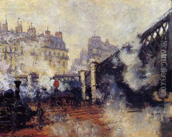 The Pont De L Europe Saint Lazare Station Oil Painting - Claude Oscar Monet